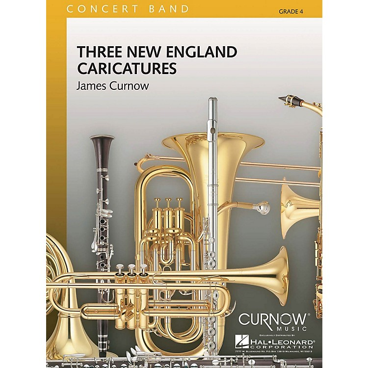 Curnow MusicThree New England Caricatures (Grade 4 - Score Only) Concert Band Level 4 Composed by James Curnow