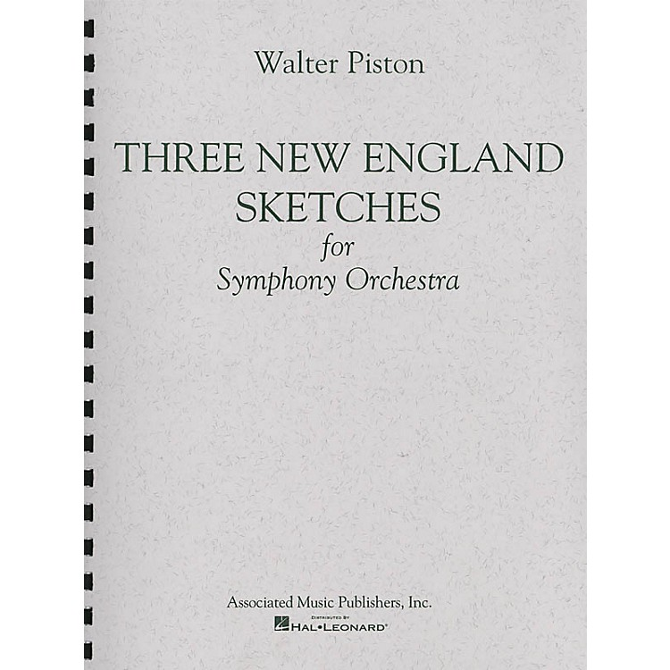 AssociatedThree New England Sketches (Full Score) Study Score Series Composed by Walter Piston