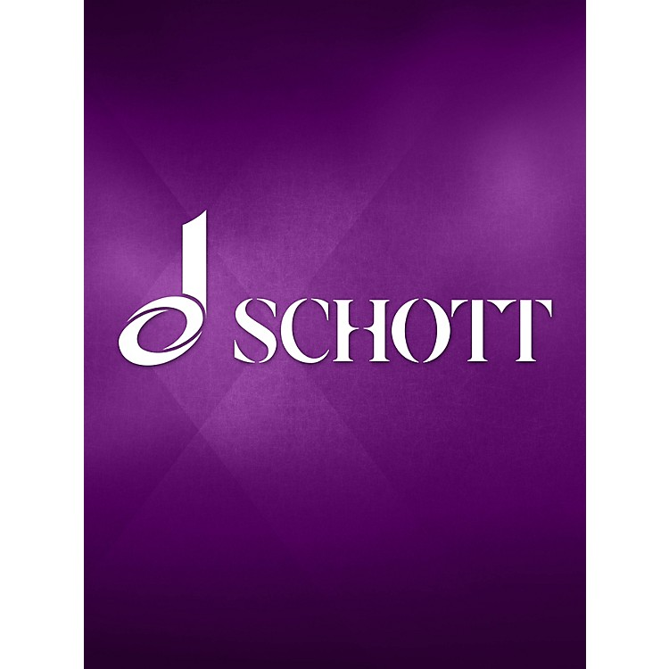SchottThree Pieces for 6 Parts (Performance Score) Schott Series by Josquin des Près