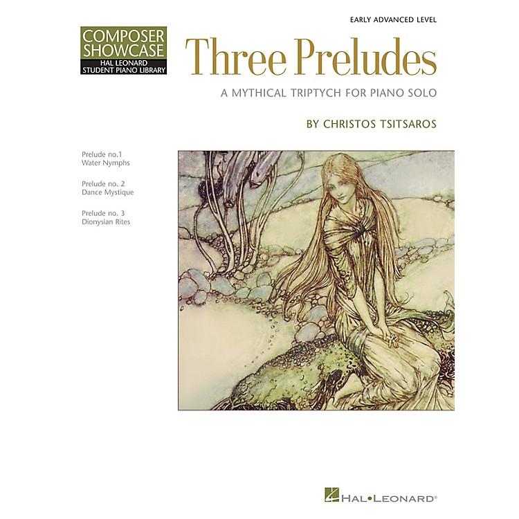 Hal LeonardThree Preludes Piano Library Series Book by Christos Tsitsaros (Level Early Advanced)