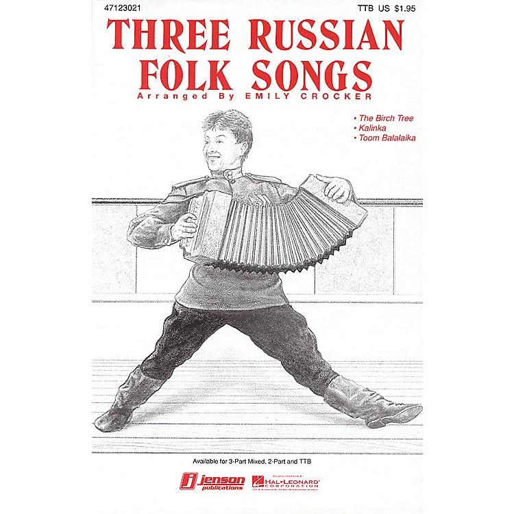 Hal LeonardThree Russian Folk Songs (Medley) 2-Part Arranged by Emily Crocker