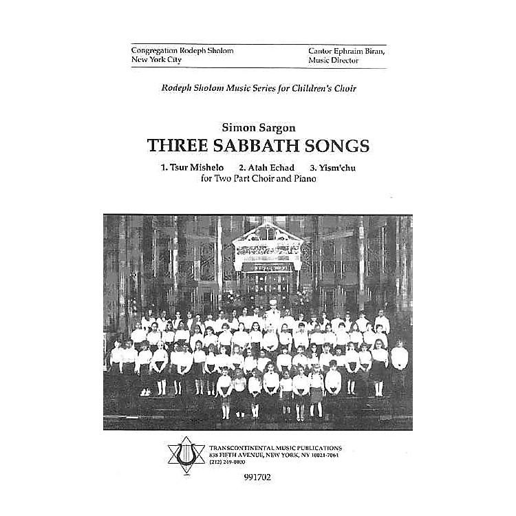 Transcontinental MusicThree Sabbath Songs 2-Part arranged by Simon Sargon