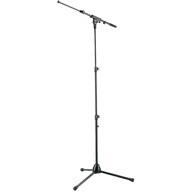 K&MThree-Section Tripod Microphone Stand With Adjustable Boom Arm - BlackBlack