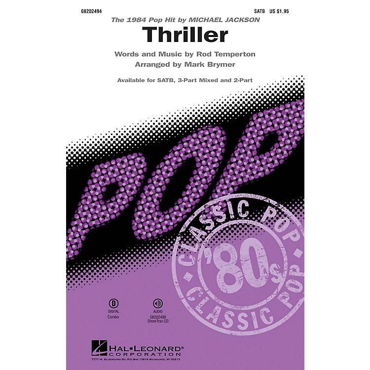 Hal LeonardThriller 2-Part by Michael Jackson Arranged by Mark Brymer