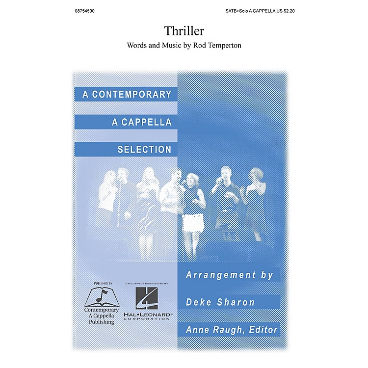 Hal LeonardThriller SATB DV A Cappella arranged by Deke Sharon