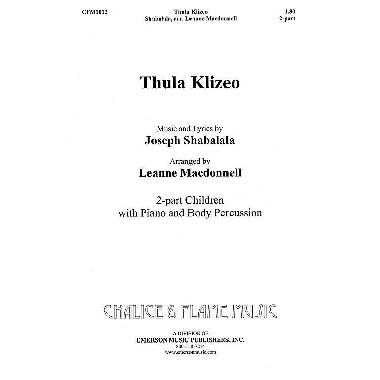 Hal Leonard Thula Klizeo composed by Leanne Macdonell