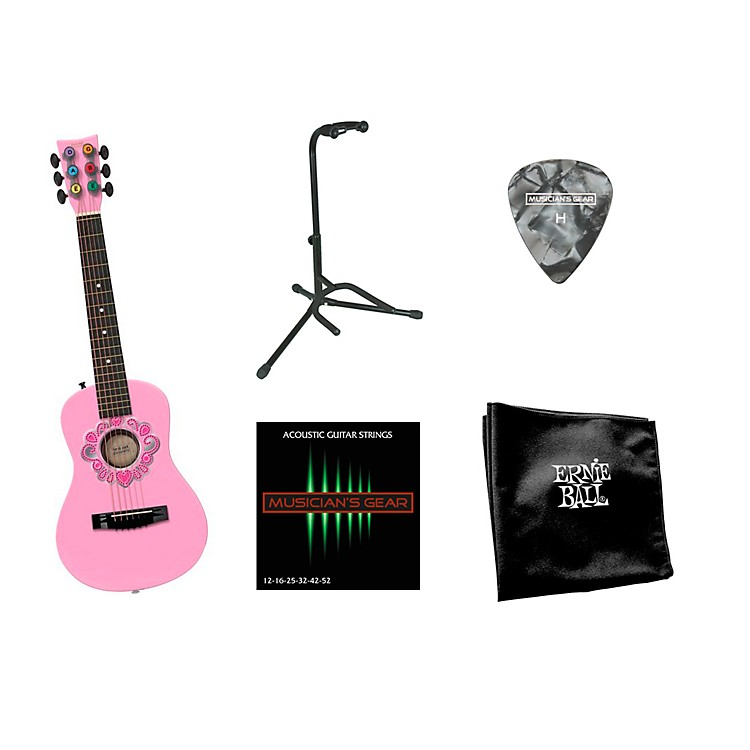 First Act Tiara Bling Acoustic Guitar Bundle with Accessory Pack