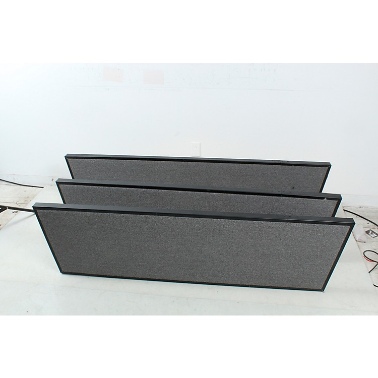 Midwest Folding Products Tiered Tapered Standing Choral Risers 3 Level, Pewter Gray Carpet 190839824400