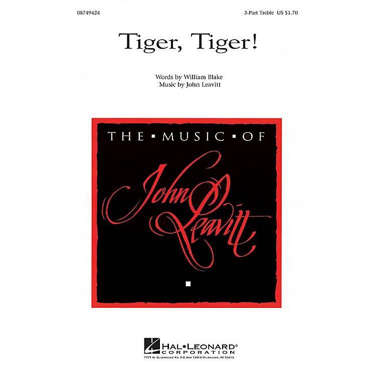 Hal LeonardTiger, Tiger! 3 Part Treble composed by John Leavitt