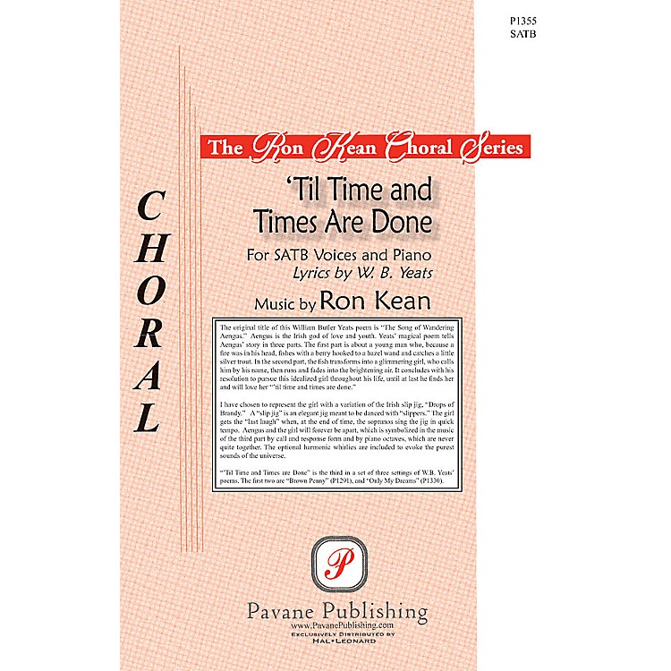 Pavane'Til Time and Times Are Done SATB composed by Ron Kean