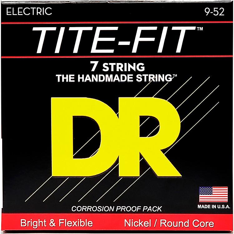 DR StringsTite-Fit LT7-9 Lite 7-String Nickel Plated Electric Guitar Strings