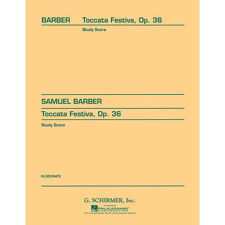 G. SchirmerToccata Festiva, Op. 36 (Study Score No. 89) Study Score Series Composed by Samuel Barber