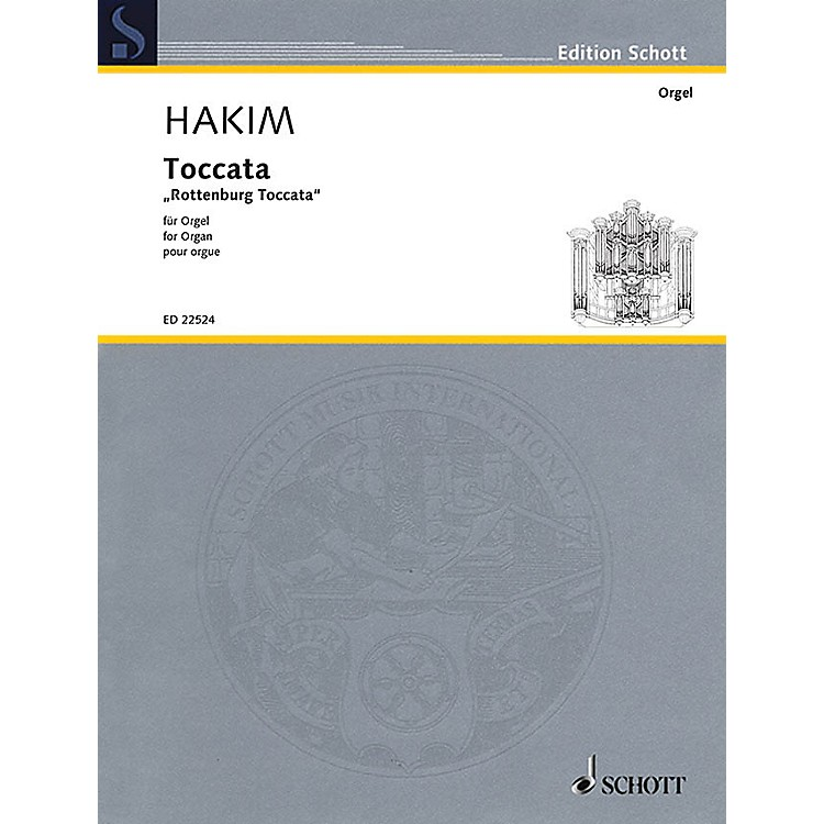 SchottToccata (Rottenburg Toccata for Organ) Organ Large Works Series Softcover