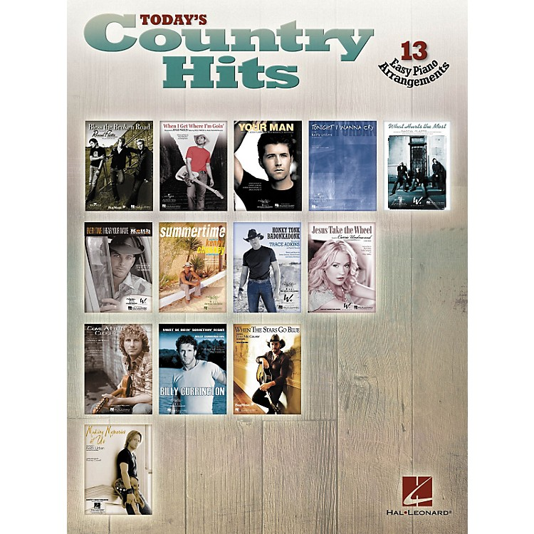 Hal LeonardToday's Country Hits For Easy Piano