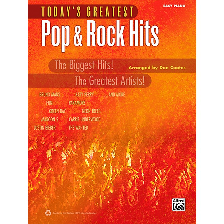 Alfred Today's Greatest Pop & Rock Hits Easy Piano Book