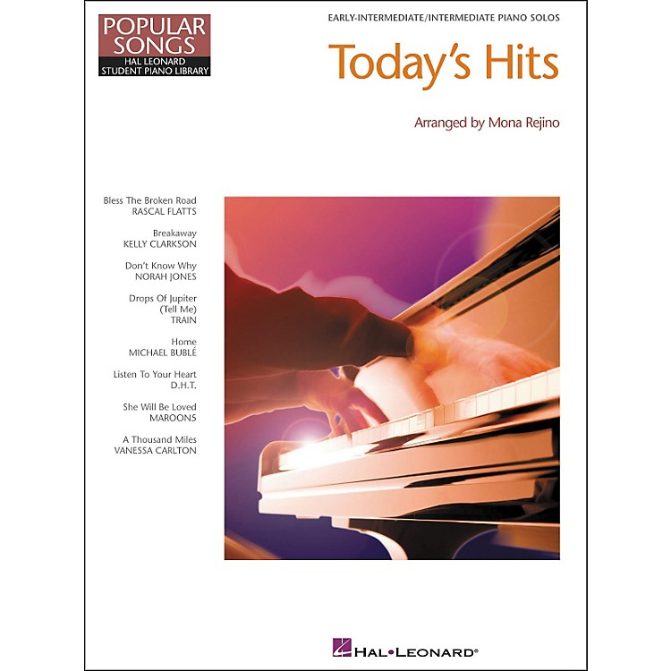 Hal Leonard Today's Hits Early Elementary intermediate Piano Solos Popular Songs Hal Leonard Student Piano Library by Mona Rejino