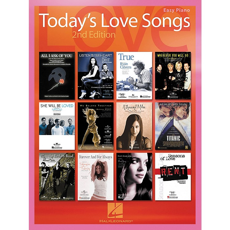 Hal LeonardToday's Love Songs 2nd Edition for Easy Piano