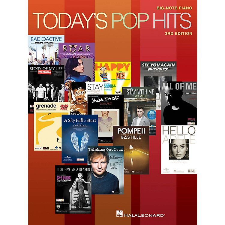 Hal LeonardToday's Pop Hits - 3rd Edition Big-Note Piano Songbook