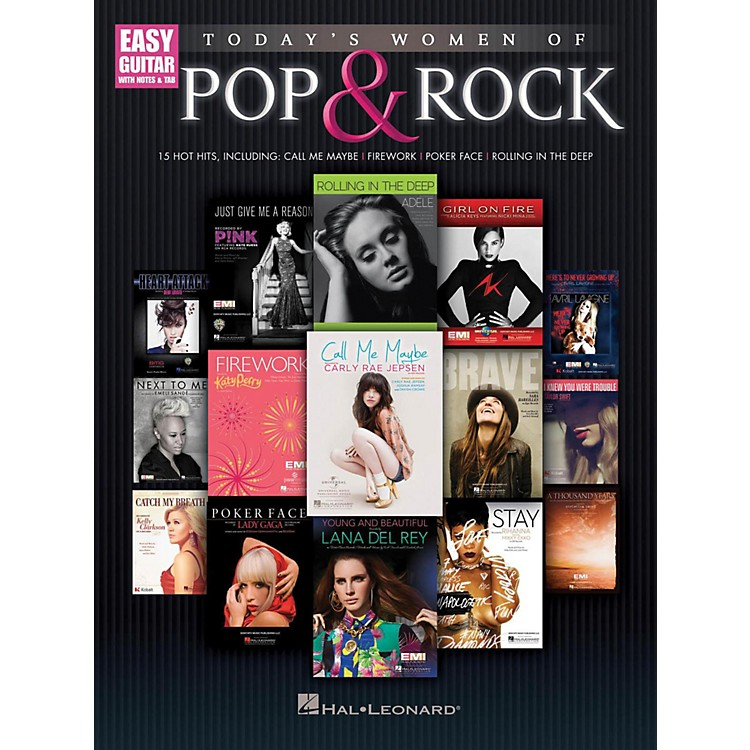 Hal Leonard Today's Women Of Pop & Rock (Easy Guitar With Tab)