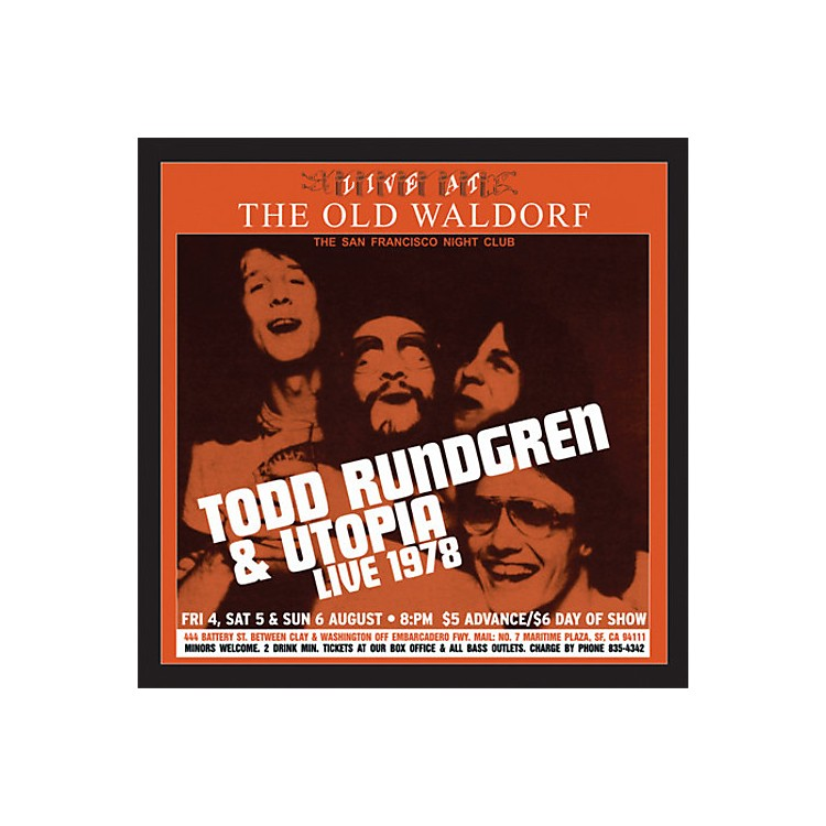 Alliance Todd Rundgren & Utopia - Live At The Old Waldorf