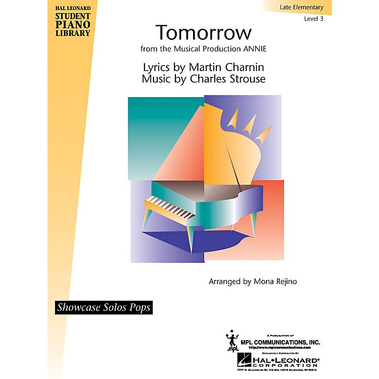 Hal LeonardTomorrow (from Annie) Piano Library Series by Charles Strouse (Level Late Elem)