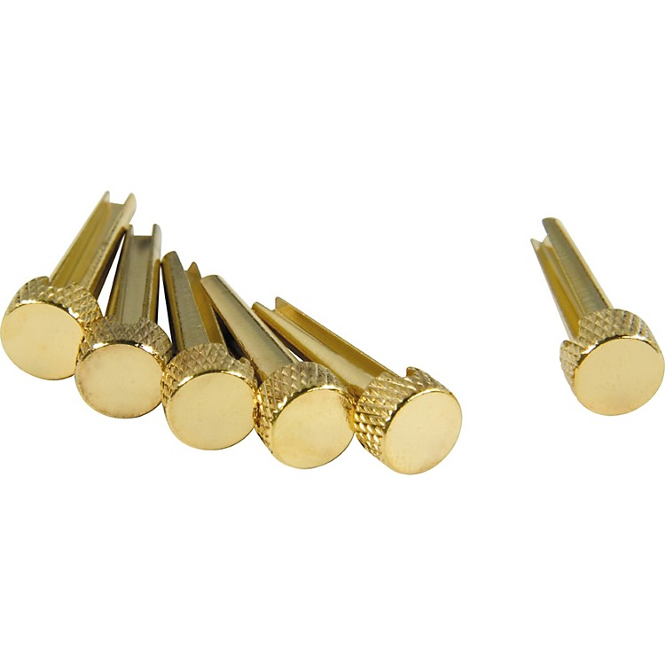 D'Andrea Tone Pins Brass Bridge Pin Set Solid Brass