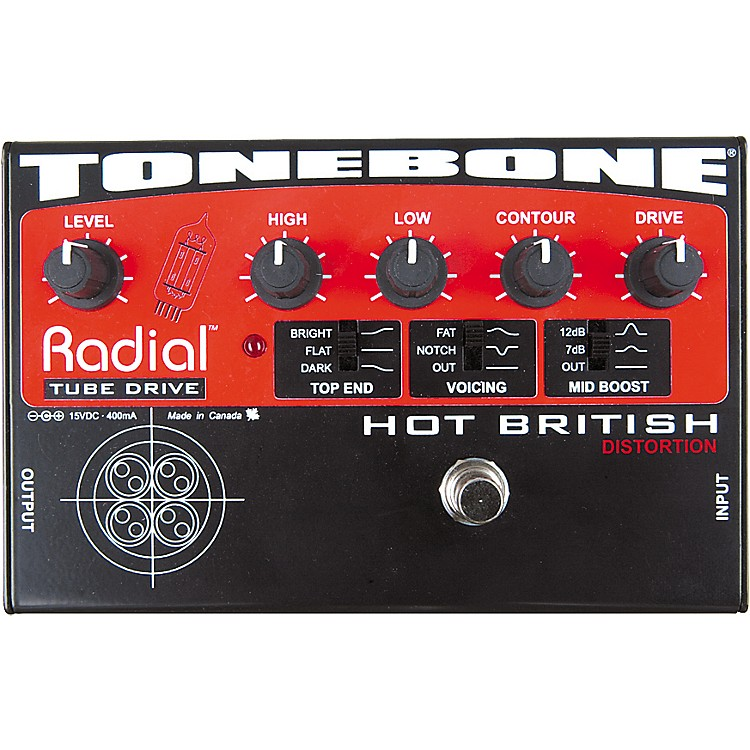Radial Engineering Tonebone Hot British Tube Drive Effects Pedal  888365610009