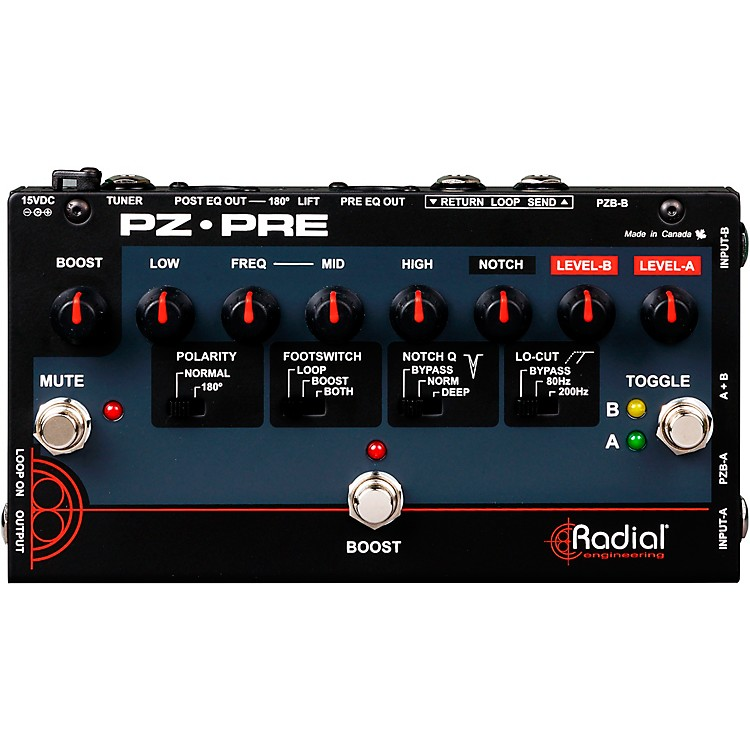 Radial Engineering Tonebone PZ-Pre Acoustic Direct Box Preamp  888365798424
