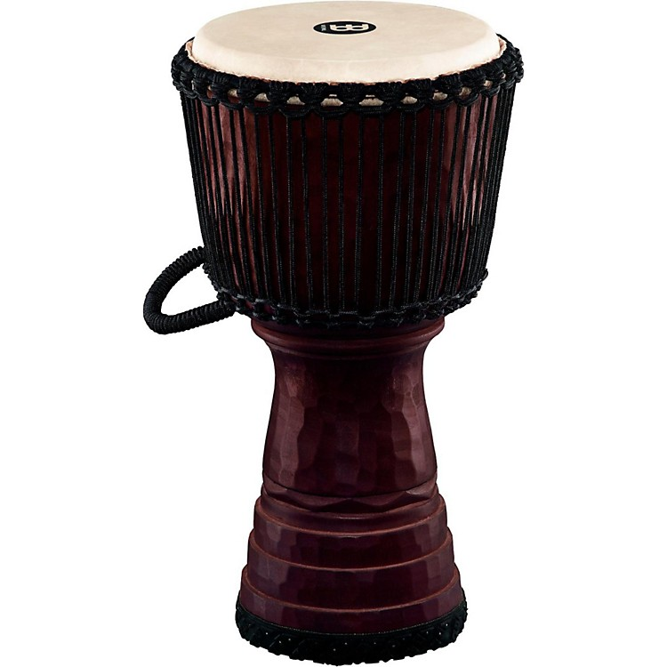 Meinl Tongo Carved Rope Tuned Mahogany Djembe 12 in.