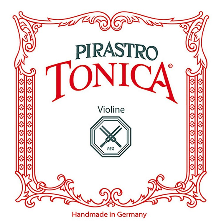 Pirastro Tonica Series Violin String Set 4/4 Size Medium - E String Silvery Steel Ball End