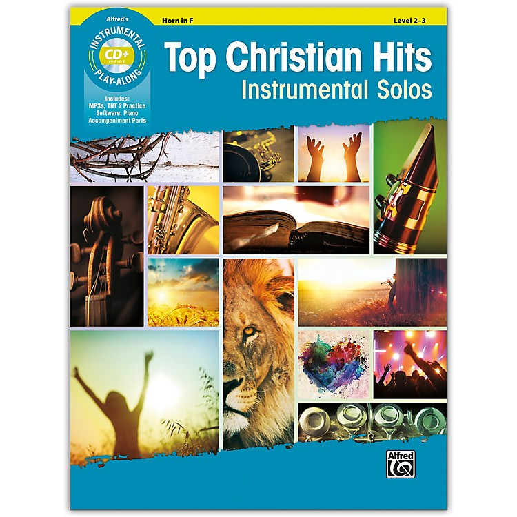 AlfredTop Christian Hits Instrumental Solos Horn in F Book & CD Level 2--3