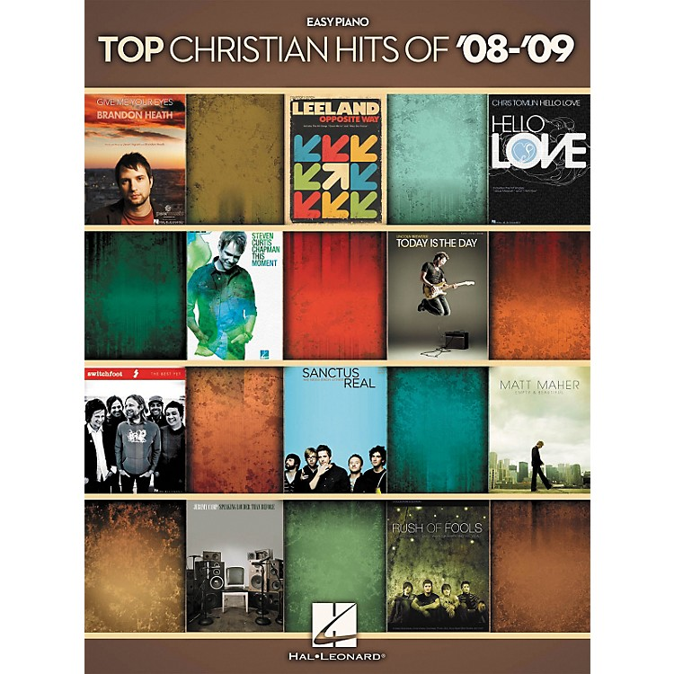 Hal Leonard Top Christian Hits Of 2008 - 2009 For Easy Piano
