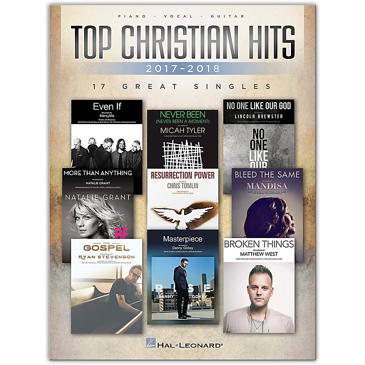 Hal LeonardTop Christian Hits of 2017-2018 - 17 Great Singles Piano/Vocal/Guitar Songbook