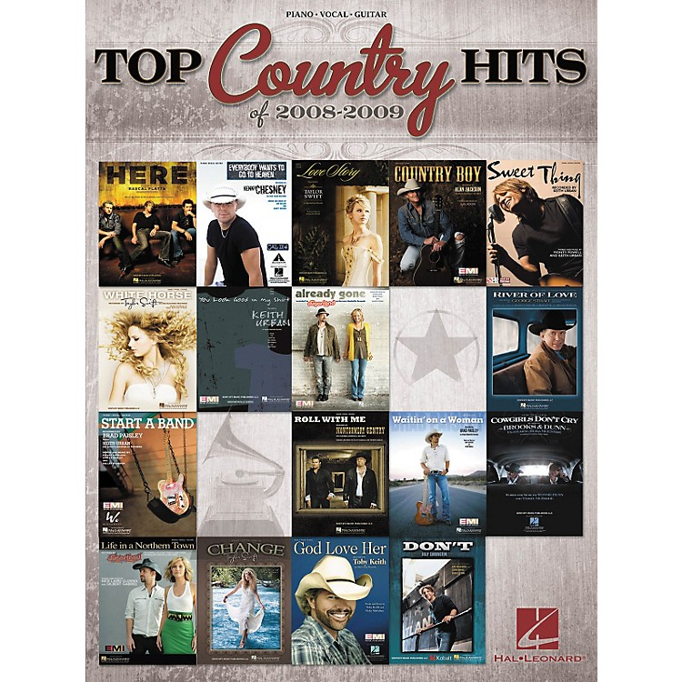 Hal Leonard Top Country Hits Of 2008-2009 (Piano/Vocal/Guitar Songbook)