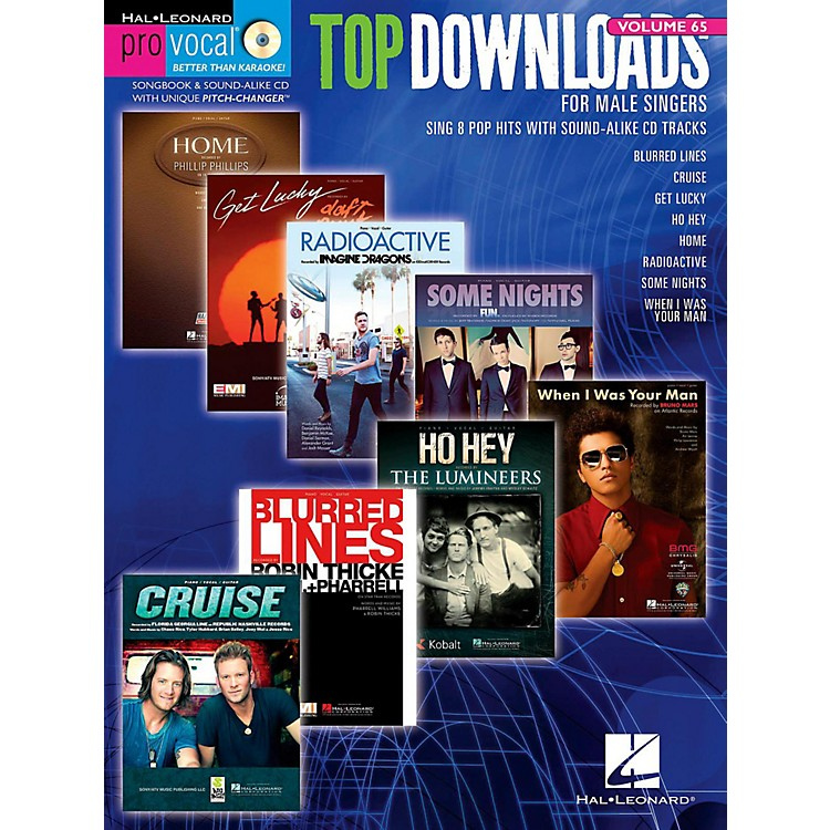 Hal Leonard Top Downloads - Pro Vocal Men's Edition Volume 65 Book/CD