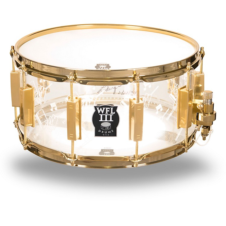 WFLIII DrumsTop Hat and Cane Collector's Acrylic Snare Drum with Gold Hardware14 x 6.5 in.