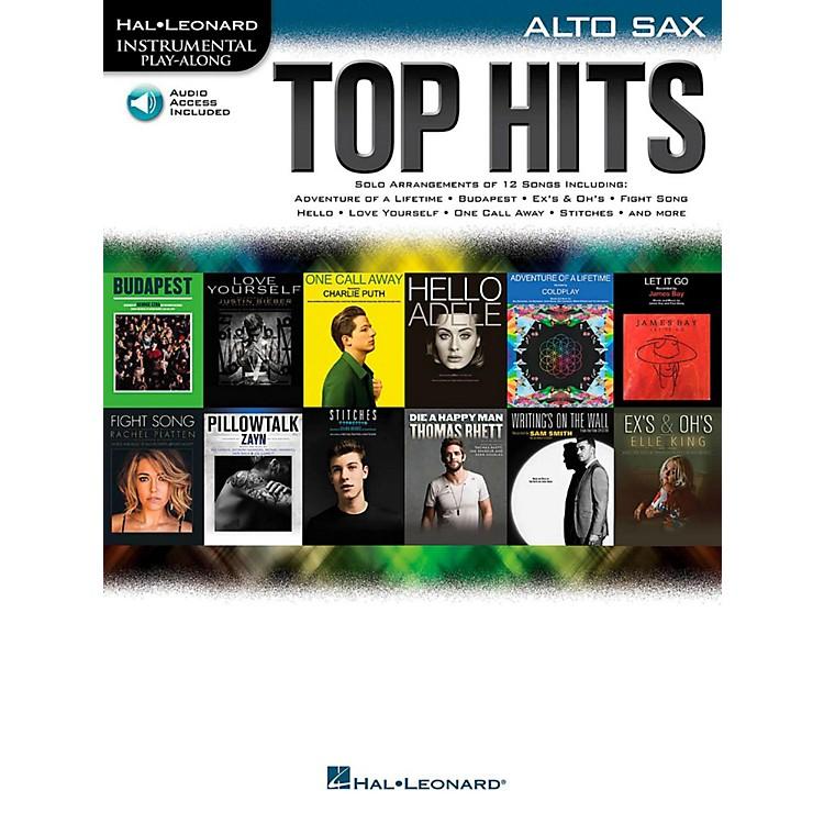 Hal LeonardTop Hits For Alto Sax - Instrumental Play-Along Book/Online Audio
