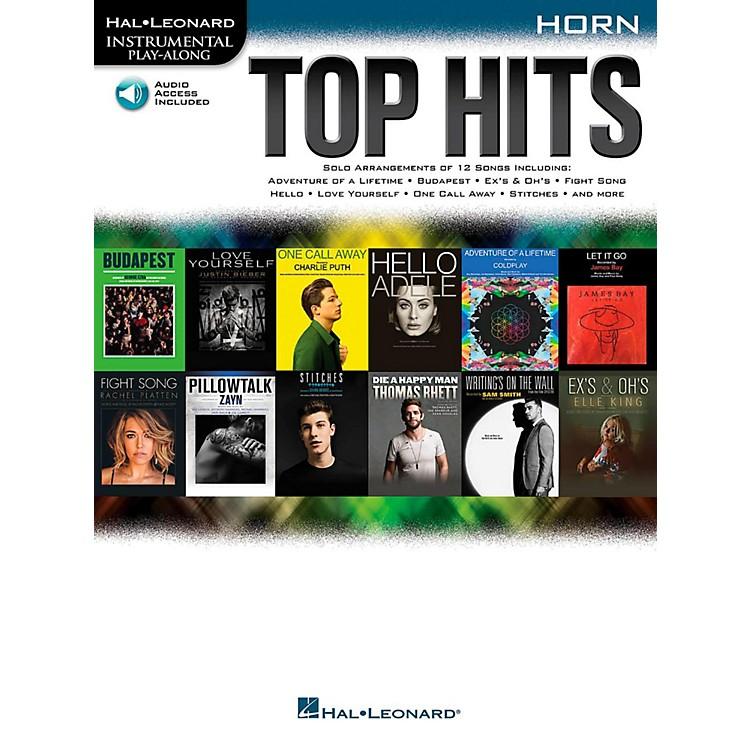 Hal LeonardTop Hits For Horn - Instrumental Play-Along Book/Online Audio