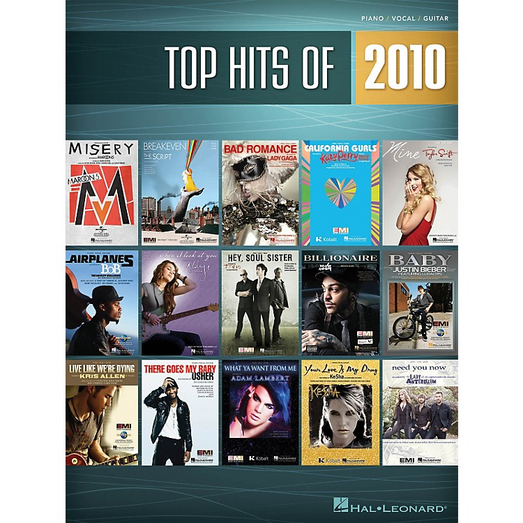 Hal Leonard Top Hits Of 2010 PVG Songbook