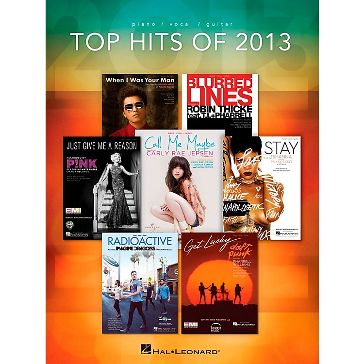 Hal Leonard Top Hits Of 2013 for Piano/Vocal/Guitar