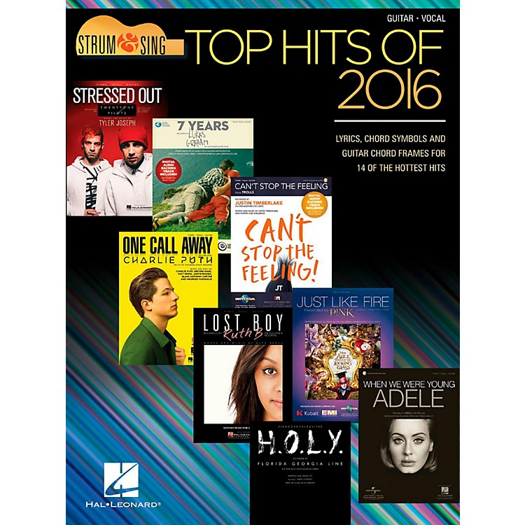 Hal Leonard Top Hits Of 2016 - Strum & Sing Guitar