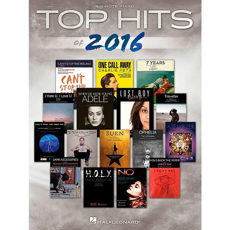Hal LeonardTop Hits Of 2016 for Big-Note Piano
