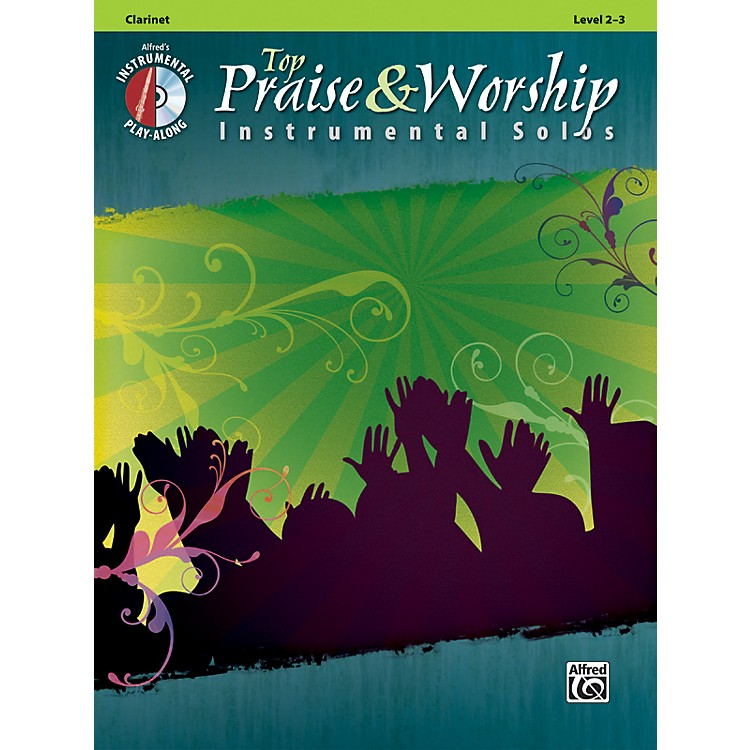 Alfred Top Praise & Worship Instrumental Solos - Clarinet, Level 2-3 (Book/CD)