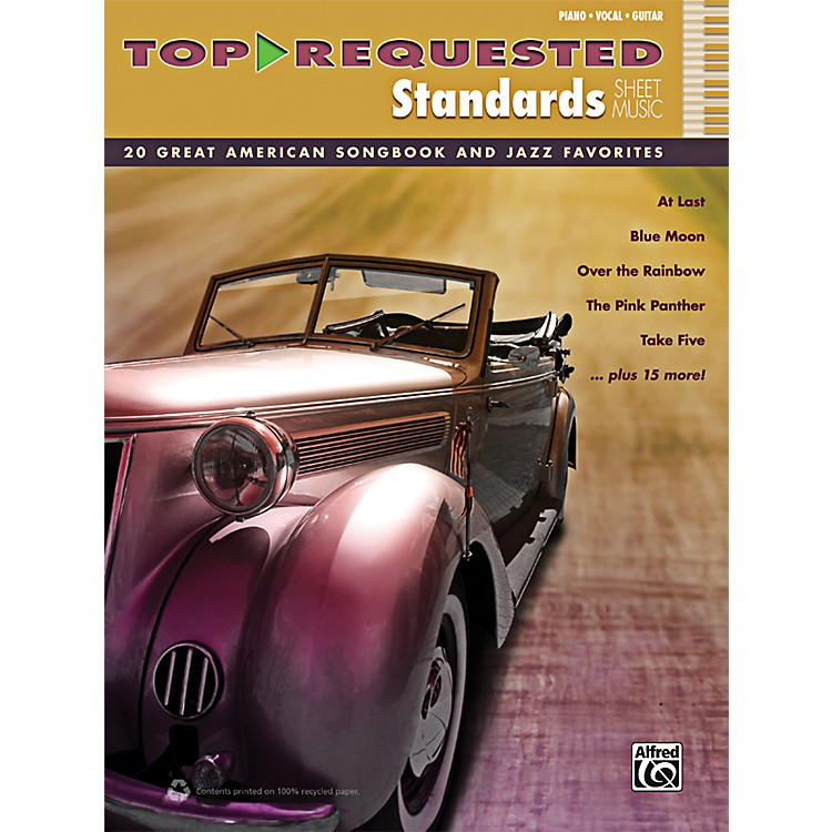 AlfredTop-Requested Standards Sheet Music P/V/G Book