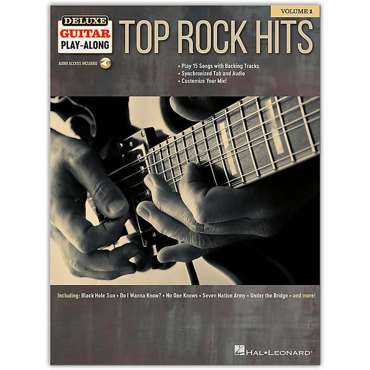 Hal LeonardTop Rock Hits Deluxe Guitar Play-Along Volume 1 Book/Audio Online