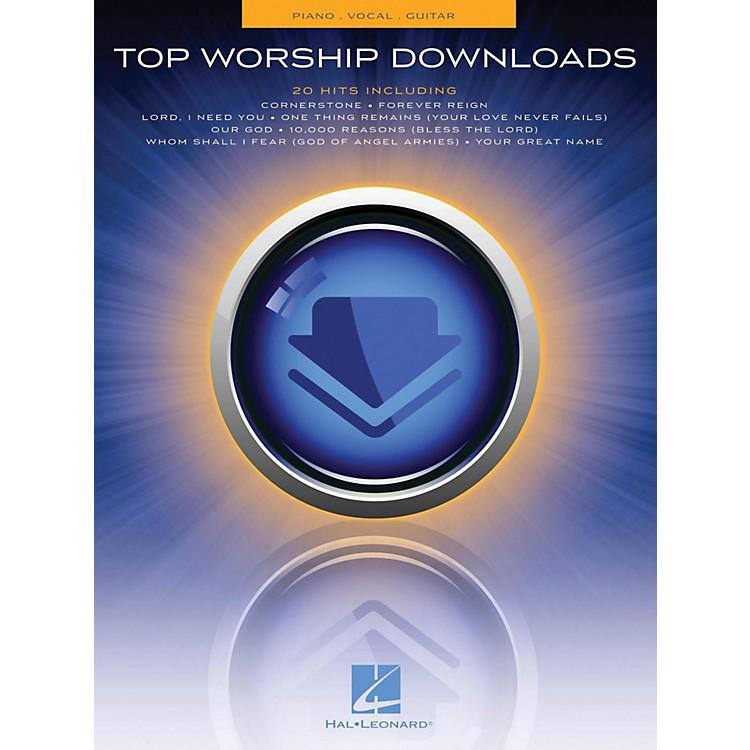 Hal LeonardTop Worship Downloads Piano/Vocal/Guitar (PVG)