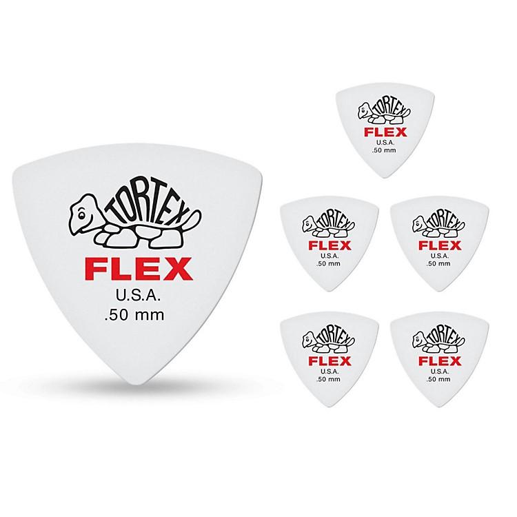 DunlopTortex Flex Triangle Guitar Picks.50 mm6 Pack