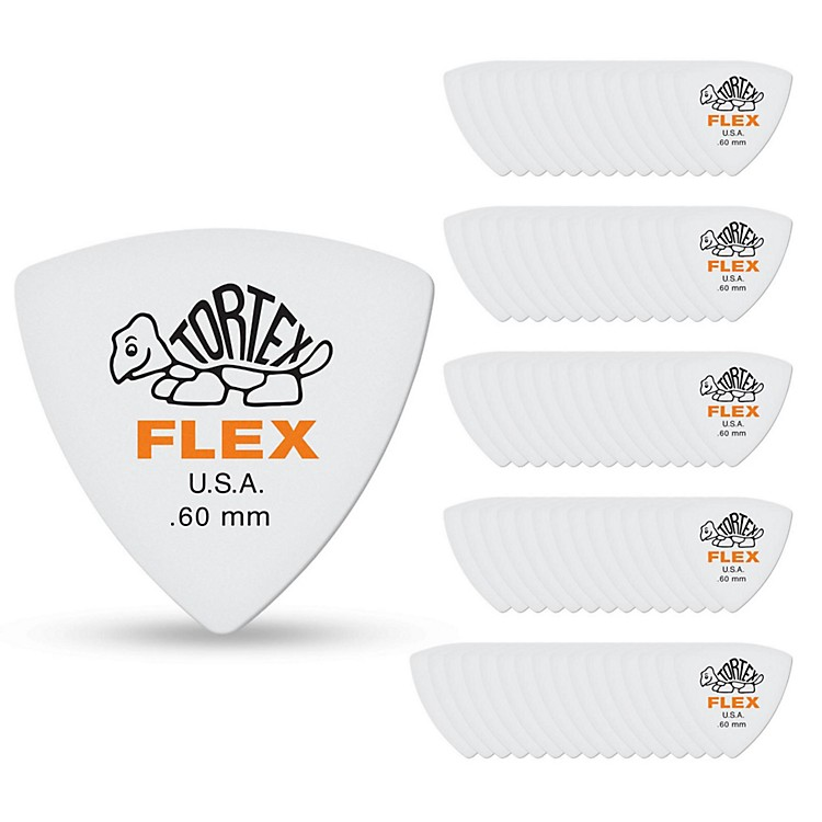 Dunlop Tortex Flex Triangle Guitar Picks .60 mm 6 Pack