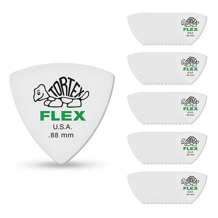 Dunlop Tortex Flex Triangle Guitar Picks .88 mm 72 Pack
