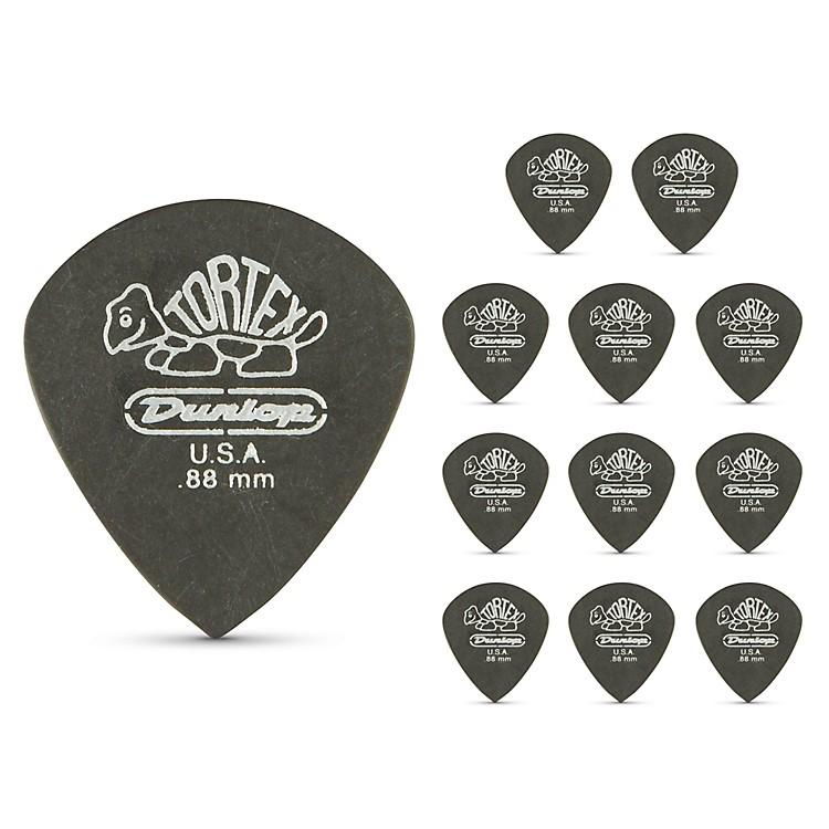 DunlopTortex Pitch Black Jazz Guitar Picks 1 Dozen.88 mm